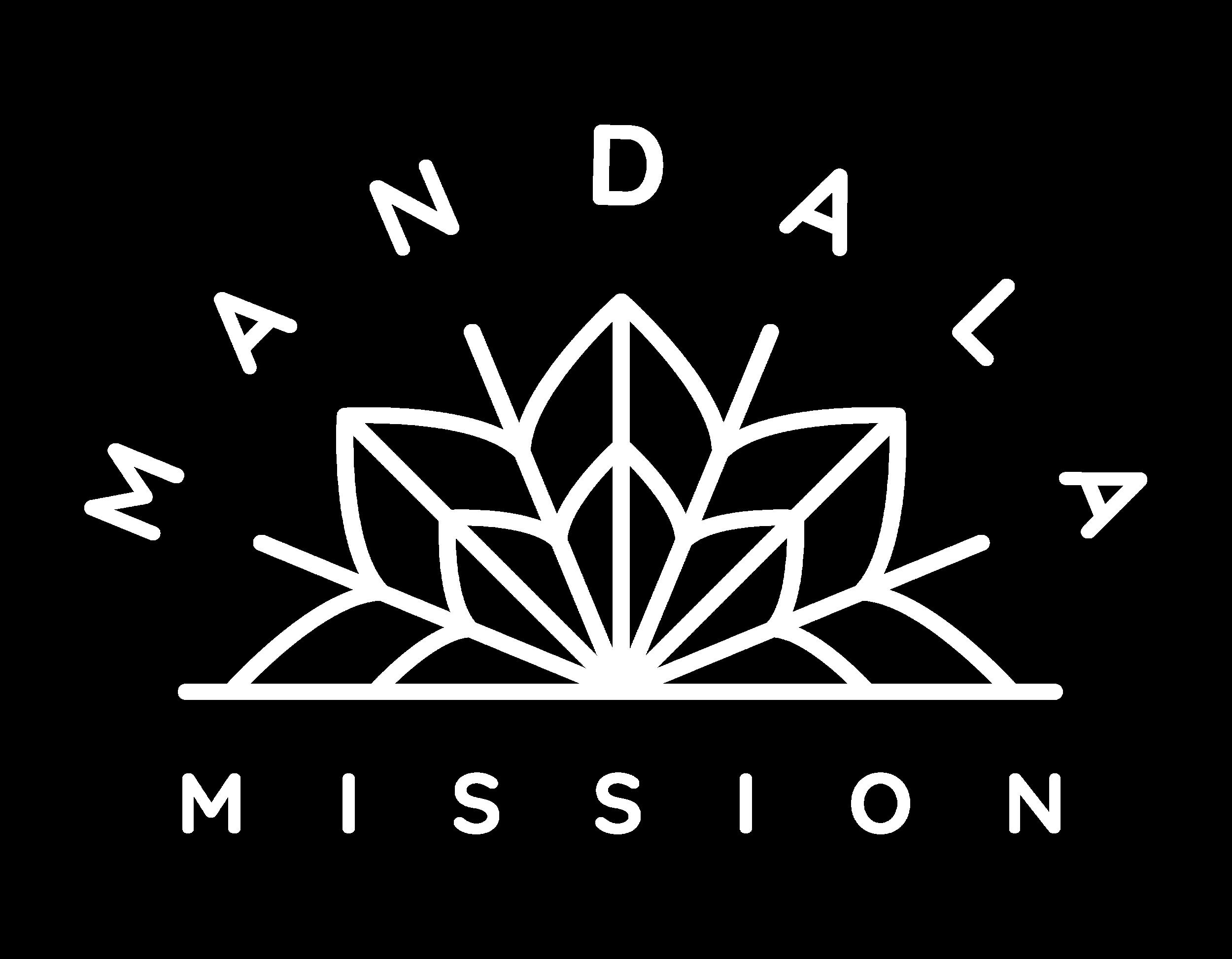 Mandala Main Logo - White