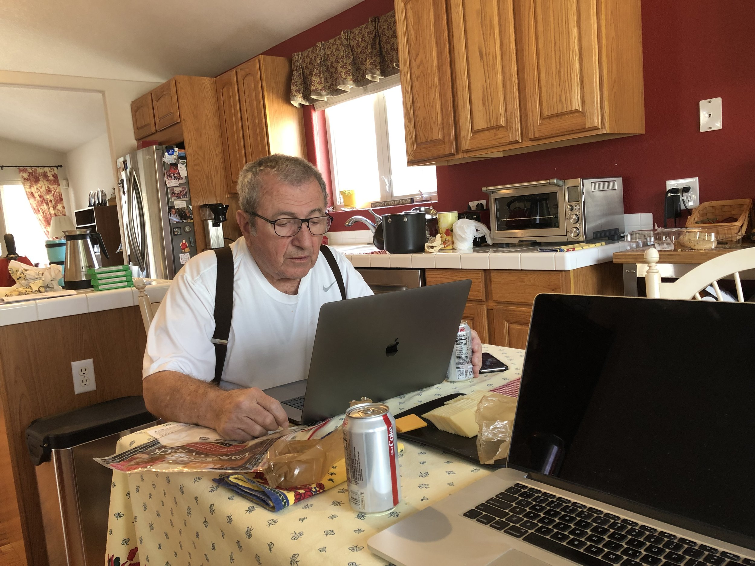 A Working Lunch: My husband and I often worked side by side in all that went into developing this new website.
