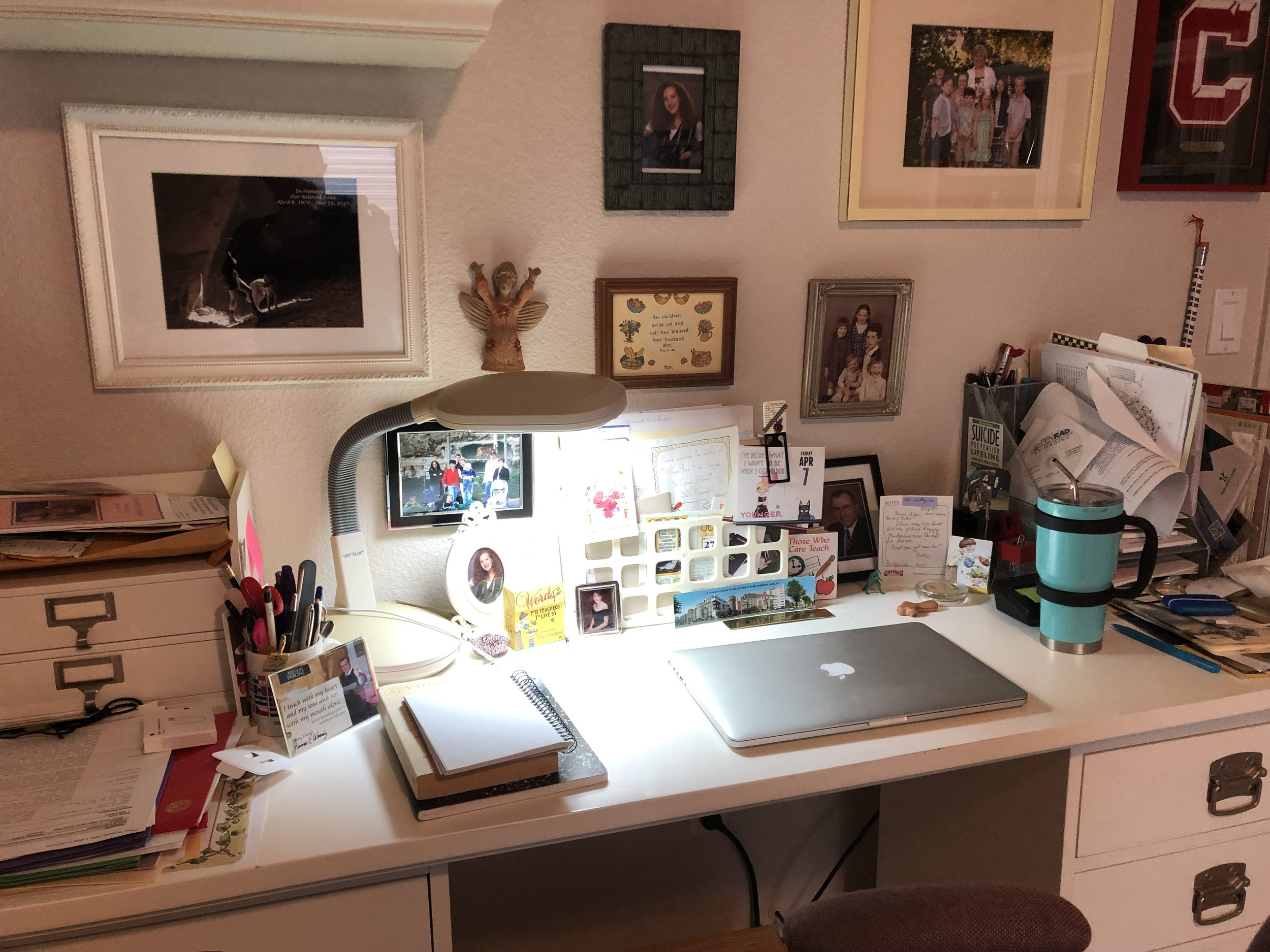 My office while I was working on my new website design with Taryn from Typewriter Designs.