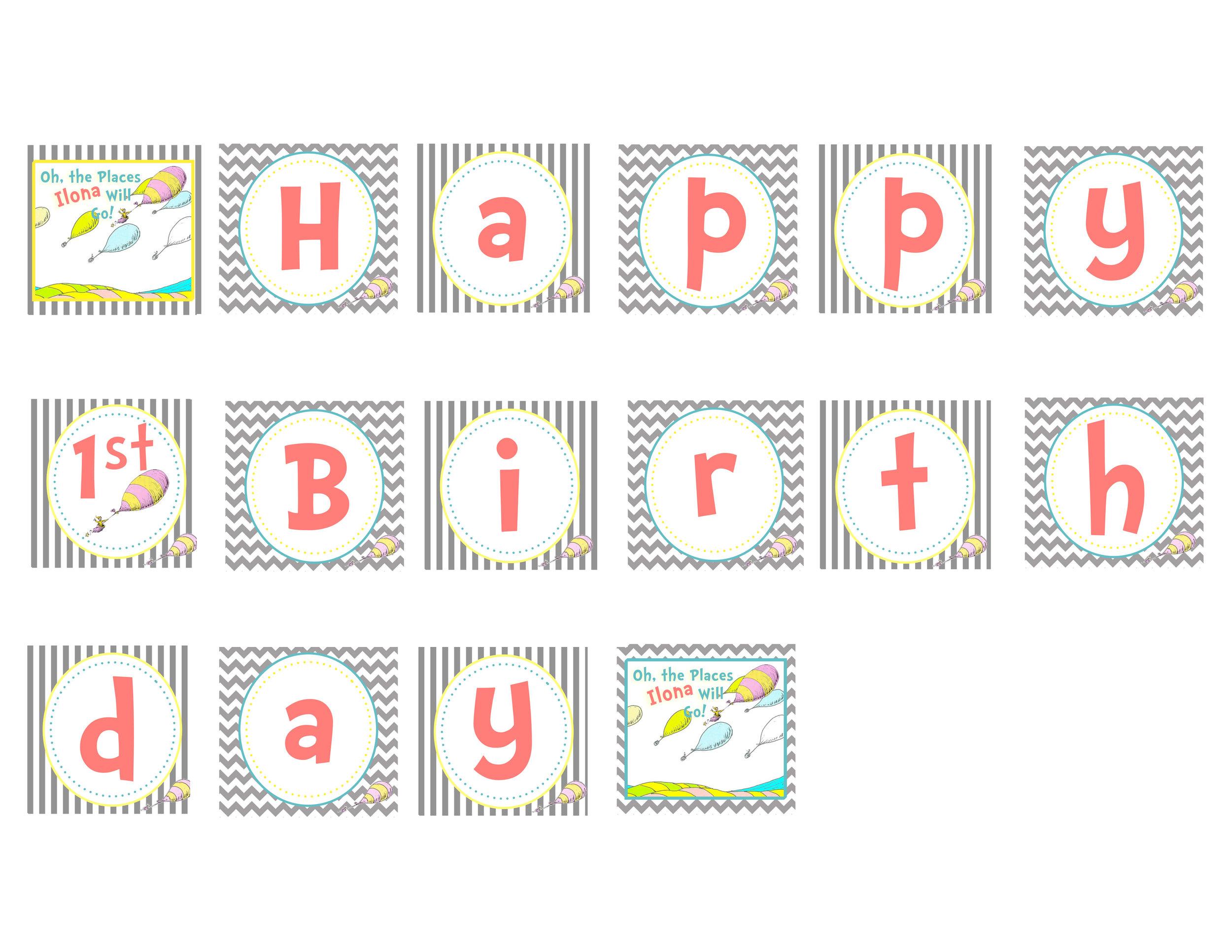 Themed Birthday Stationary
