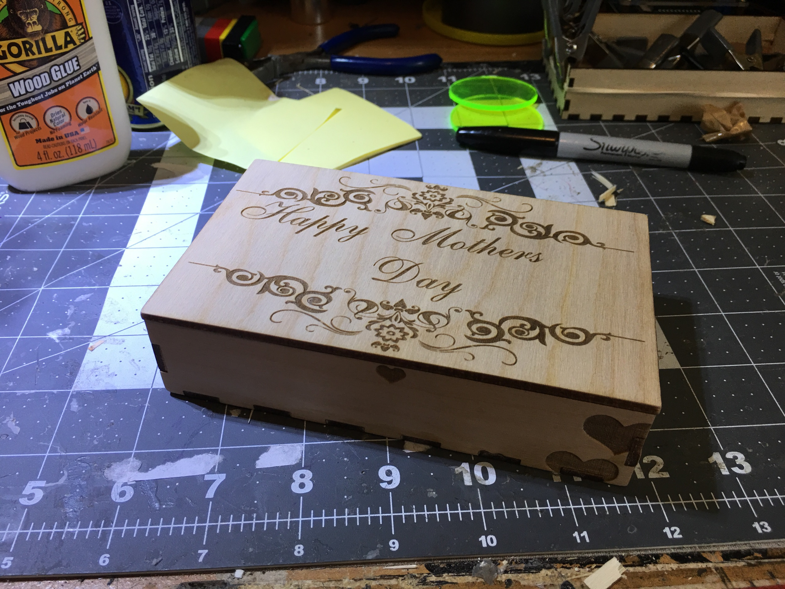 """Mother's Day, or any day you want to celebrate with a hand made presentation box. Add any images or text you like, both inside and out! Measures 1.2"""" high, by 3.5x5.75."""
