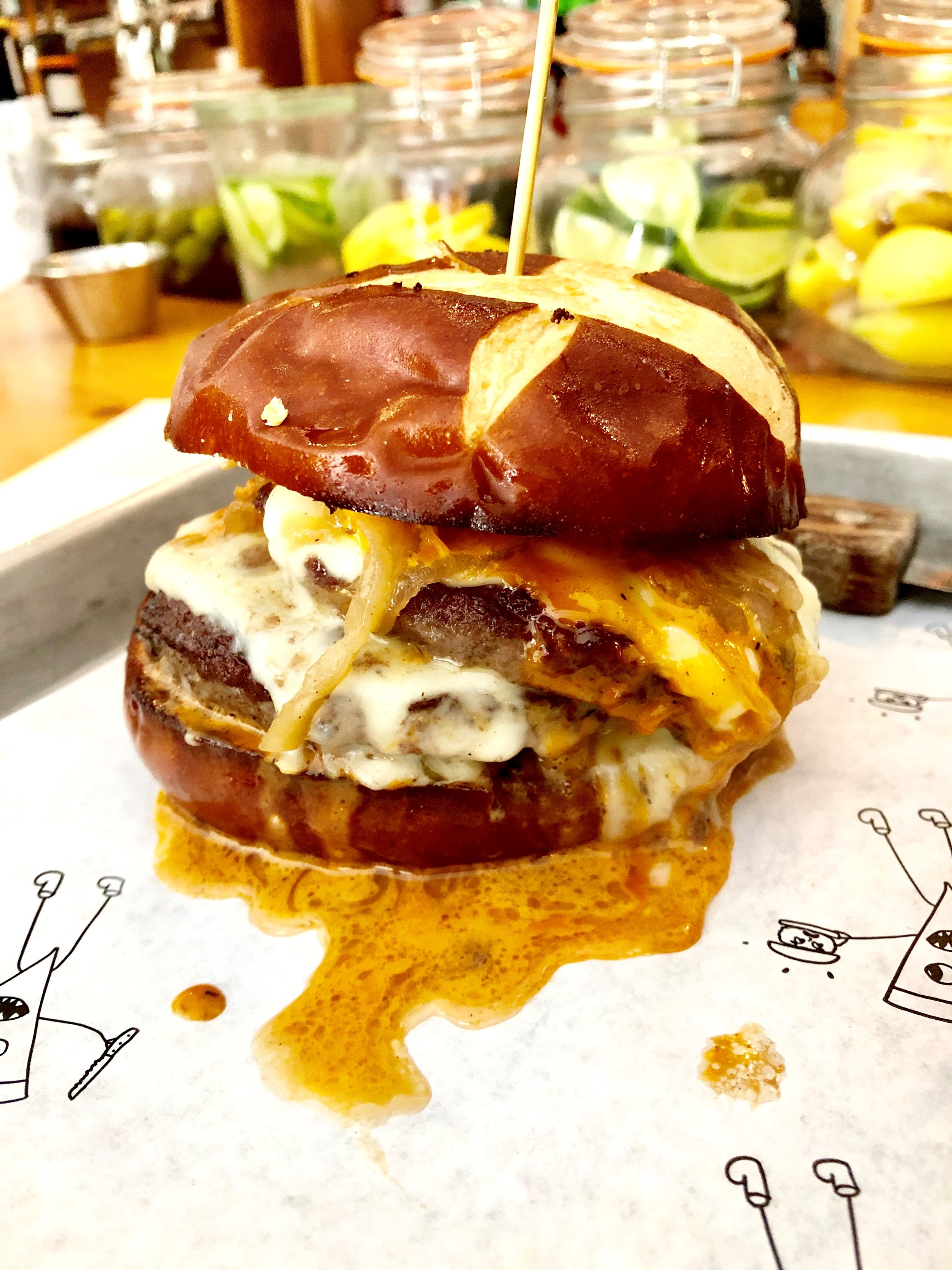"""Double stack burger from """"Pizza Loves Emily"""""""