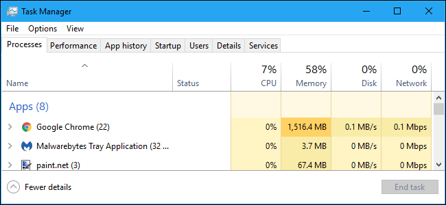 Looking for memory hogs in Task Manager