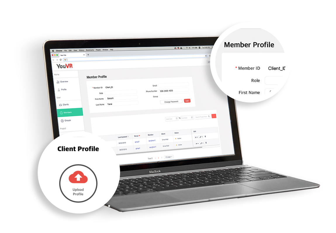 ADVANCED MANAGING SYSTEM - Easily manage large teams, their roles and authorization from a single platform.
