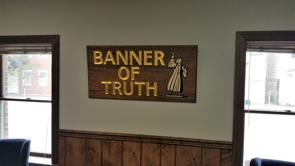 The lobby at The Banner of Truth Trust's North American office (Photo J.R. Waller)