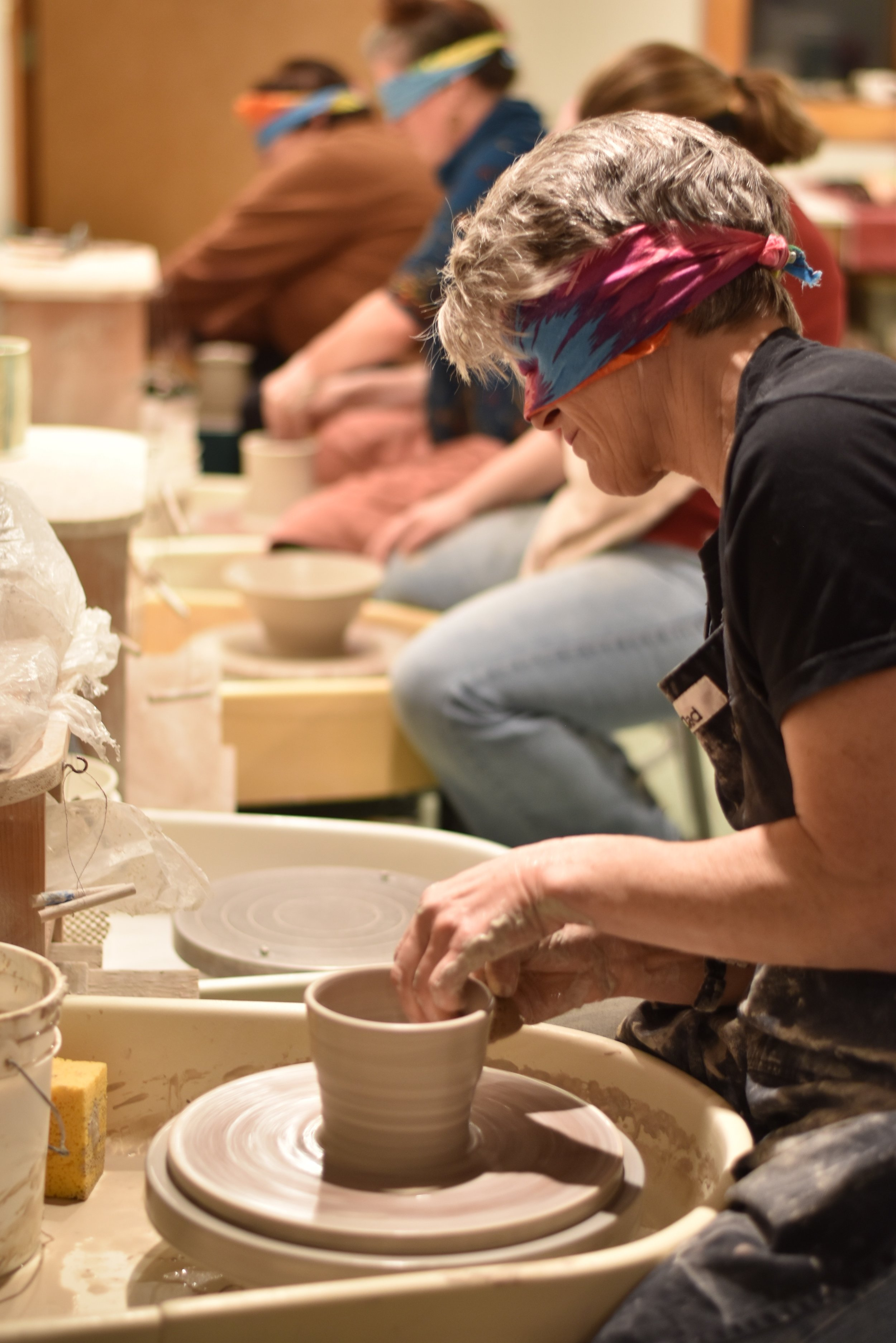 Blindfolded Throwing at Lucy Fagella's studio.jpg