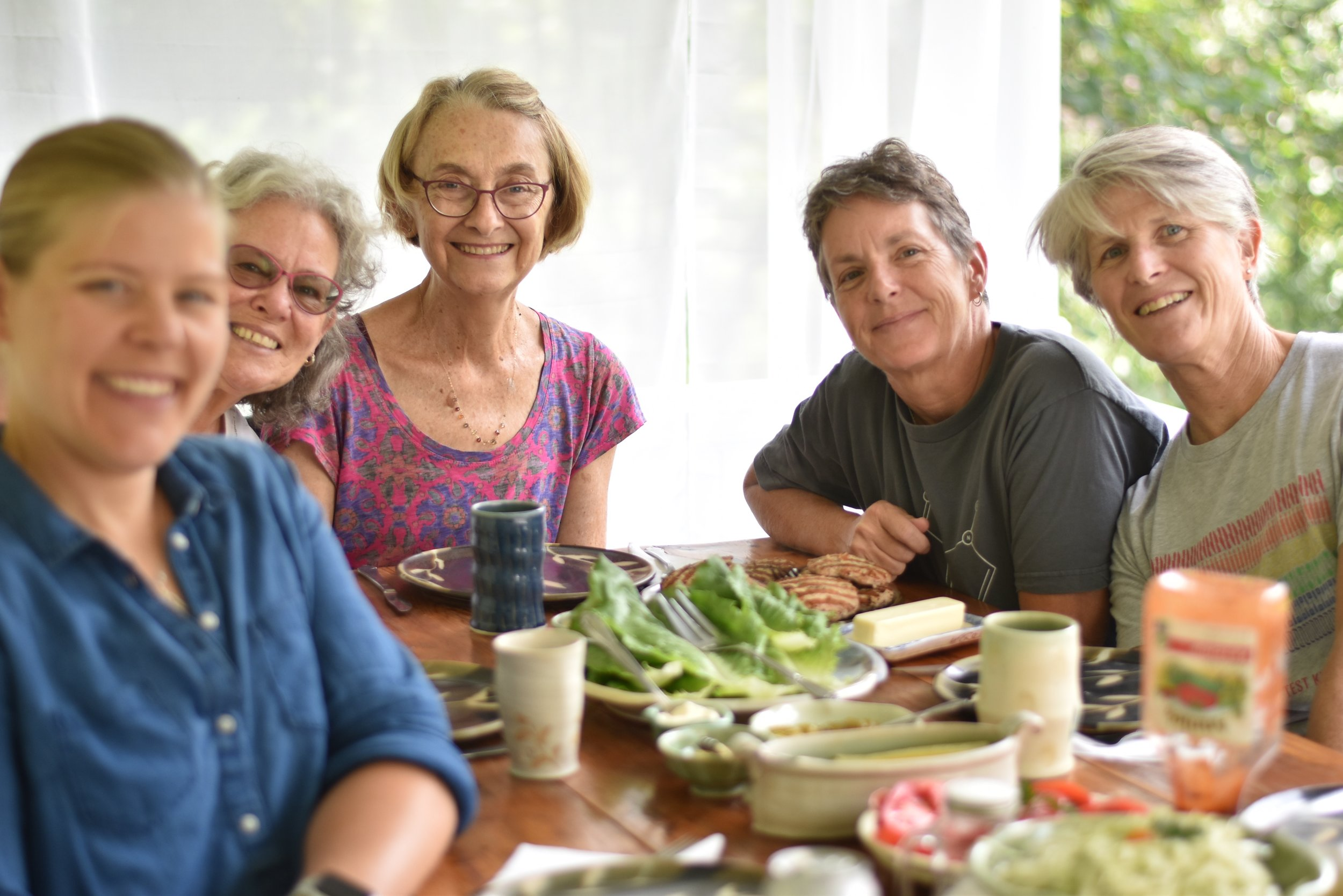 Lunch on the porch at a Lucy Fagella Pottery Workshop.jpg