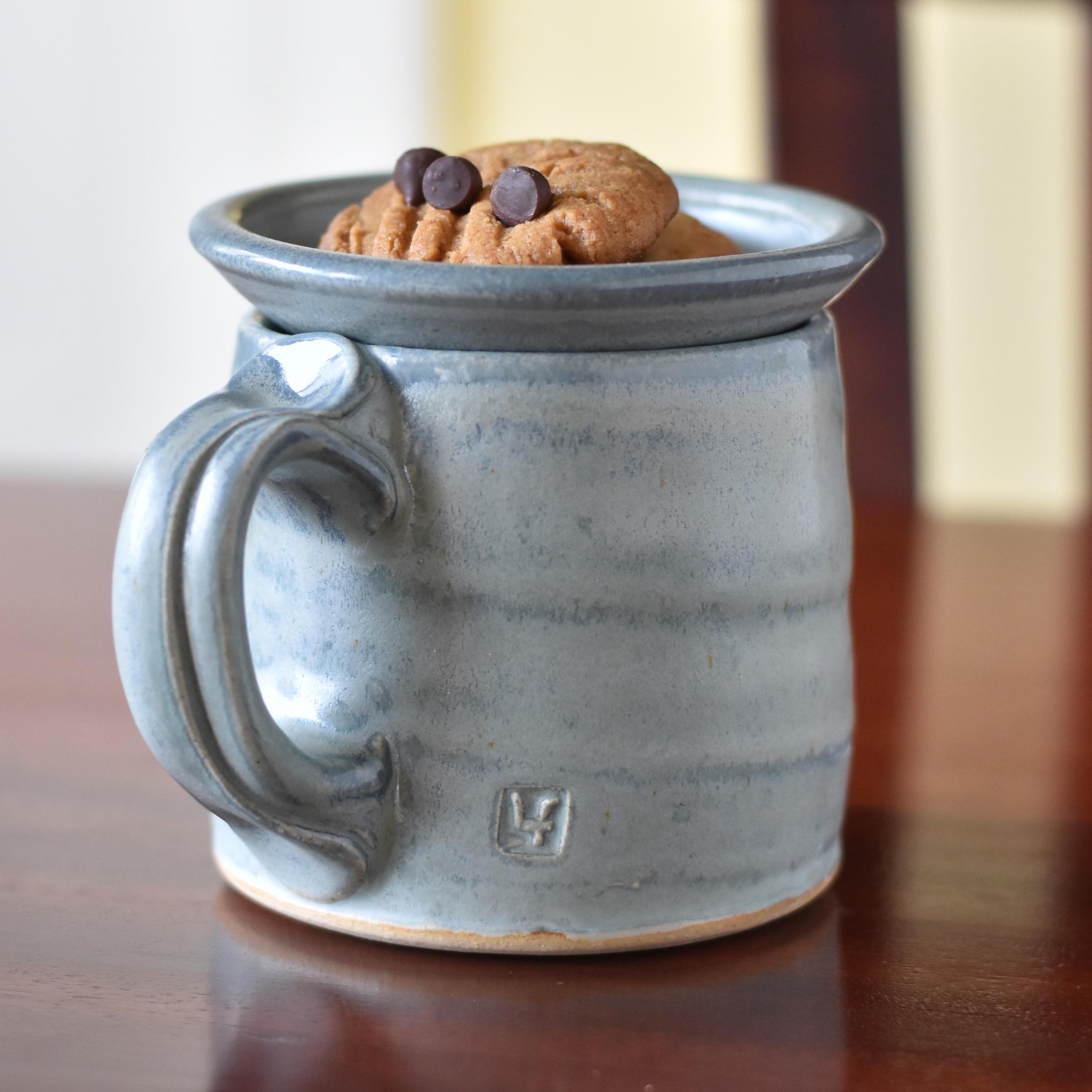 Mug with tea topper LucyFagella.com.