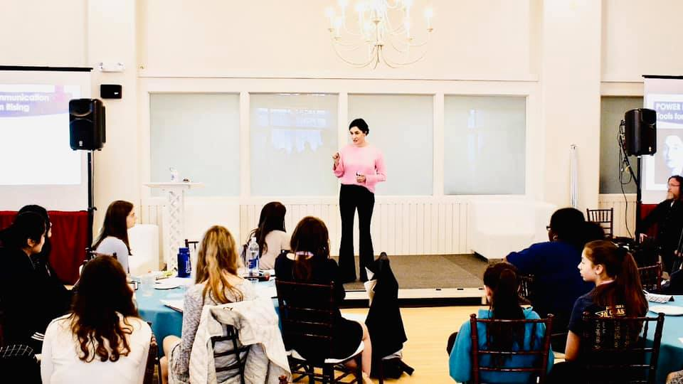 Speaking at GirlUp, a United Nations organization empowering young women.