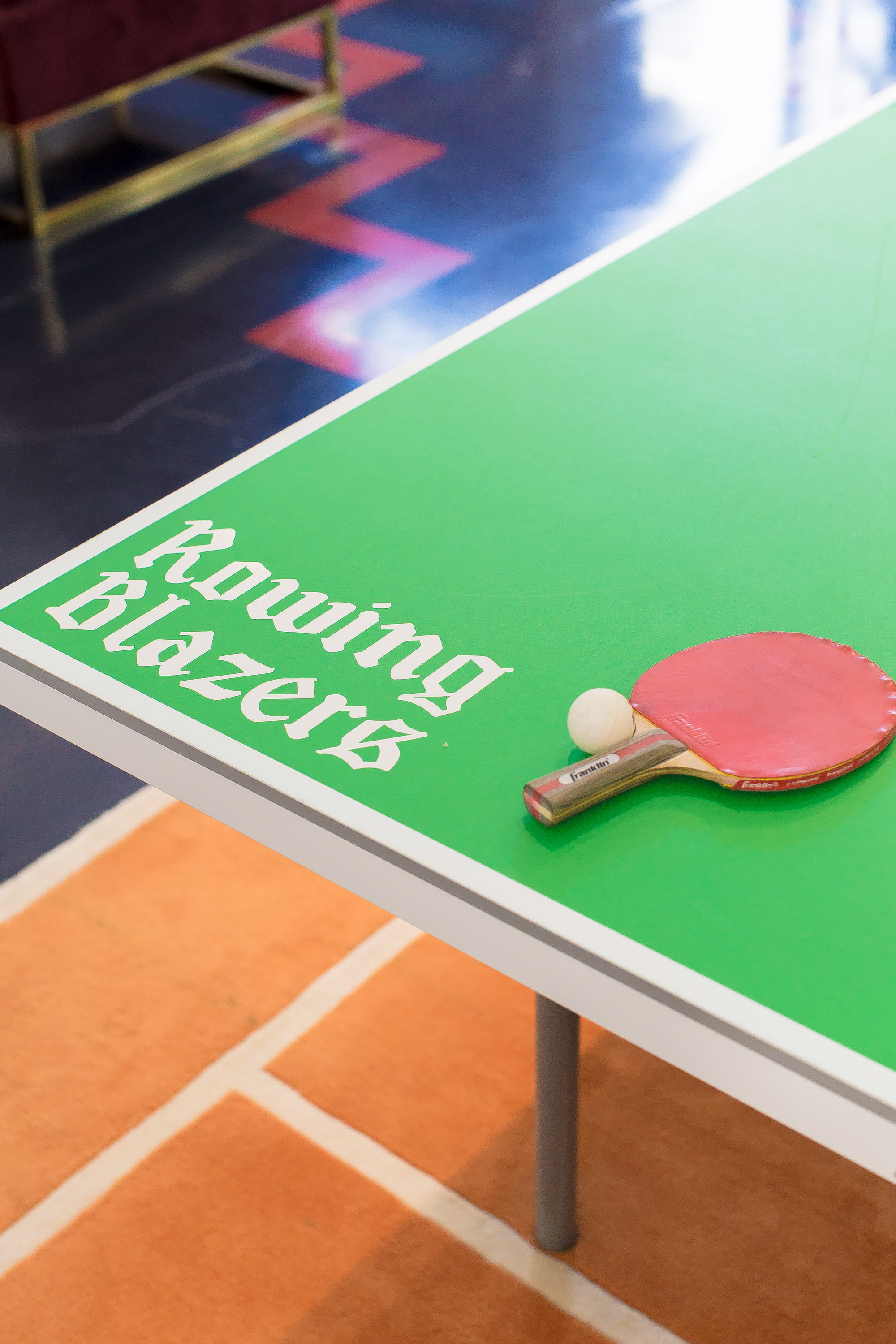 Club life includes table tennis at Rowing Blazer.