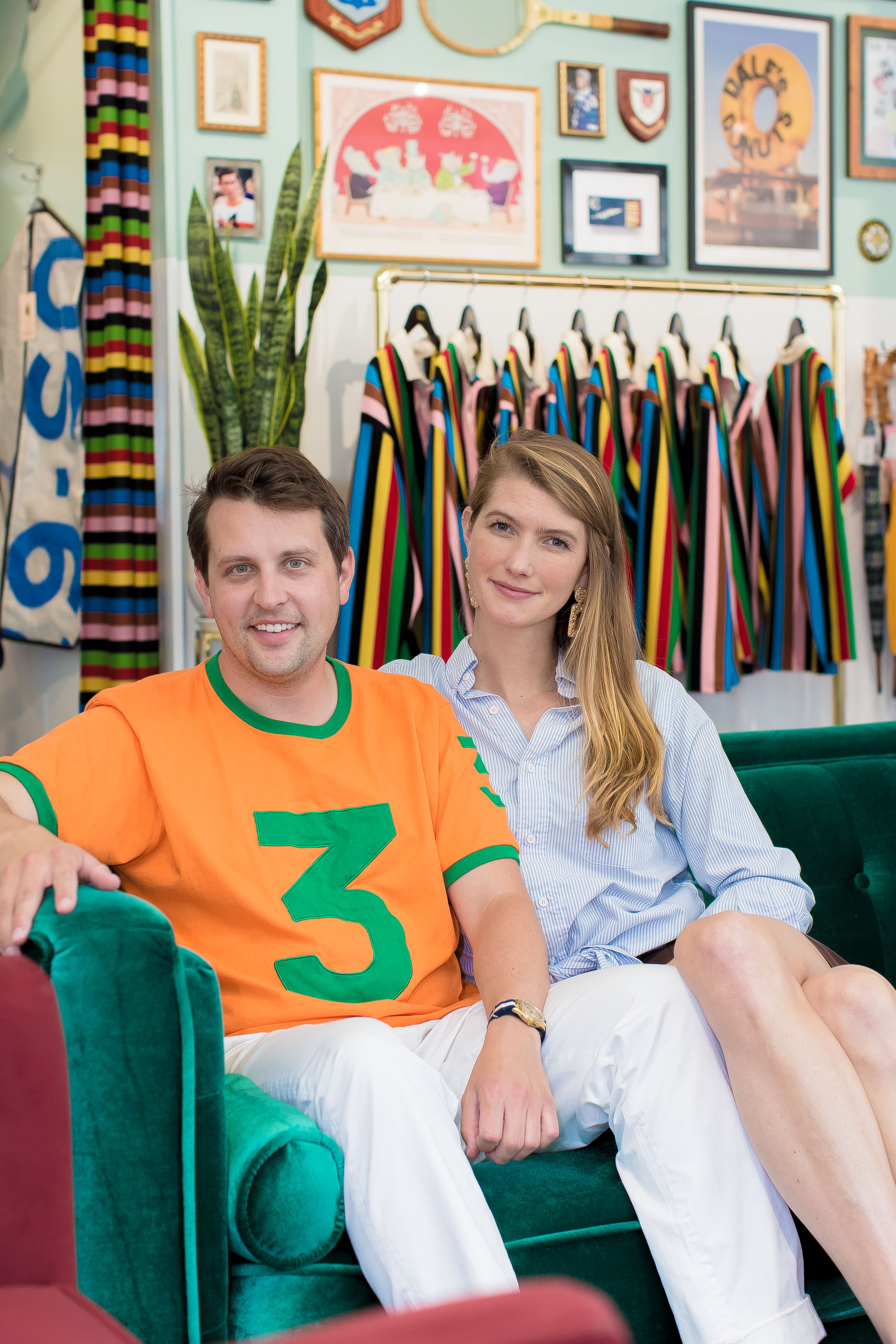 Jack and Keziah at the Rowing Blazer store.