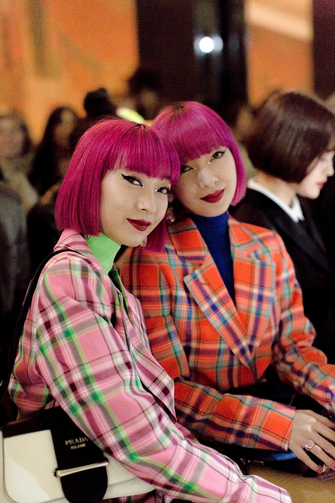 Ami  &  Aya  Amiaya at the  agnes B  show