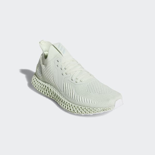 Adidas Alphaedge 4D Parley shoe made with recycled ocean plastic knitting