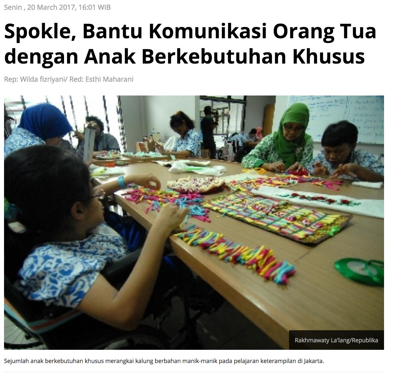 Republika article about Spokle app