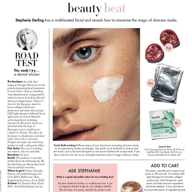 Treatment review in @sundaylifemag by @mrssdarling reviewing my Dermal infusion skin therapy treatment. #dpclinicalskintherapy #clinicalskintherapy #secretsofabeautyqueen #skinneedling
