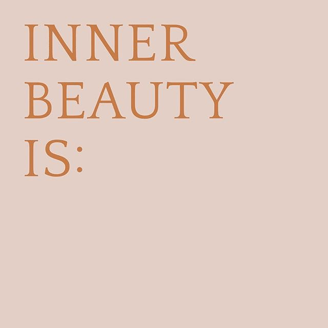 Inner beauty series by @thebeautychef #innerbeautyis  make a comment in what inner beauty means to you!