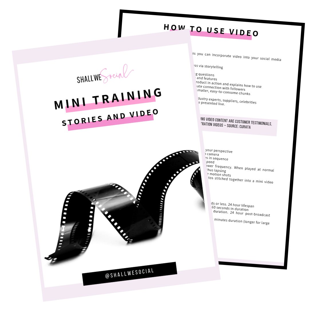 Shall we social mini training - Stories and Video