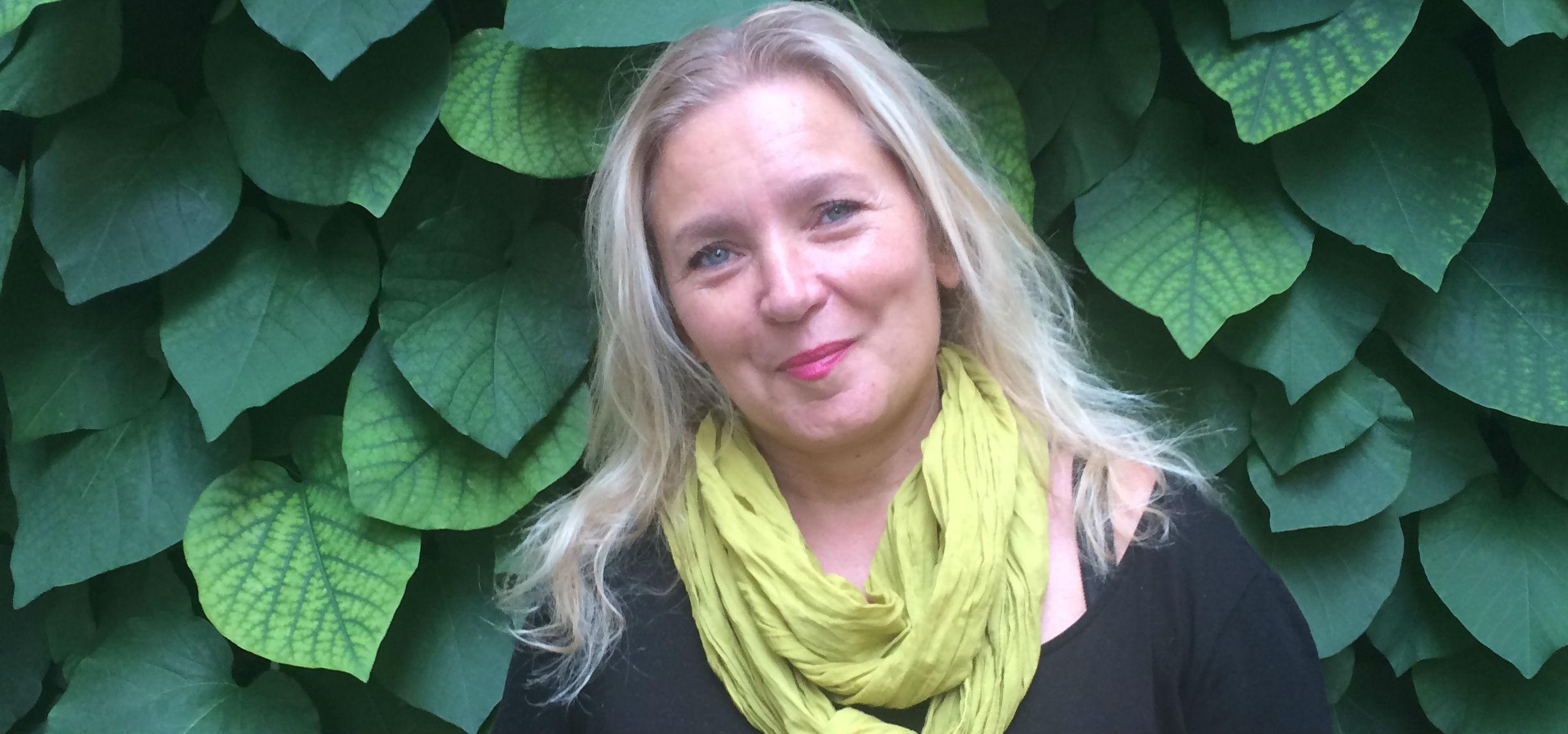 Pia Bergström, biblioterapeut.
