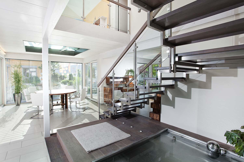Treppen in einem Gebäude fotografieren