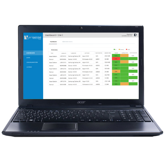 Site set up takes about five minutes and we provide full staff training on the Verisense platform. -