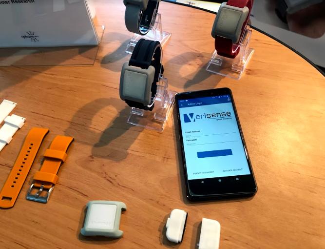 Verisense sensor, base unit, and wrist strap selection