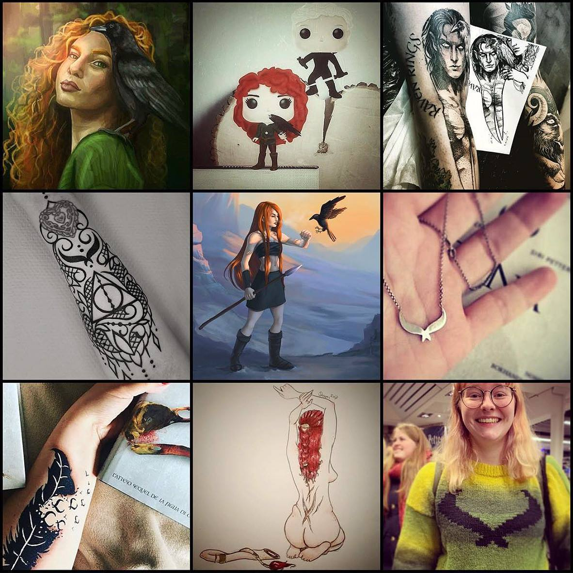Collage: Nice most loved pieces of fanart