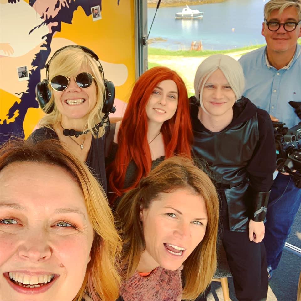 TV team selfie