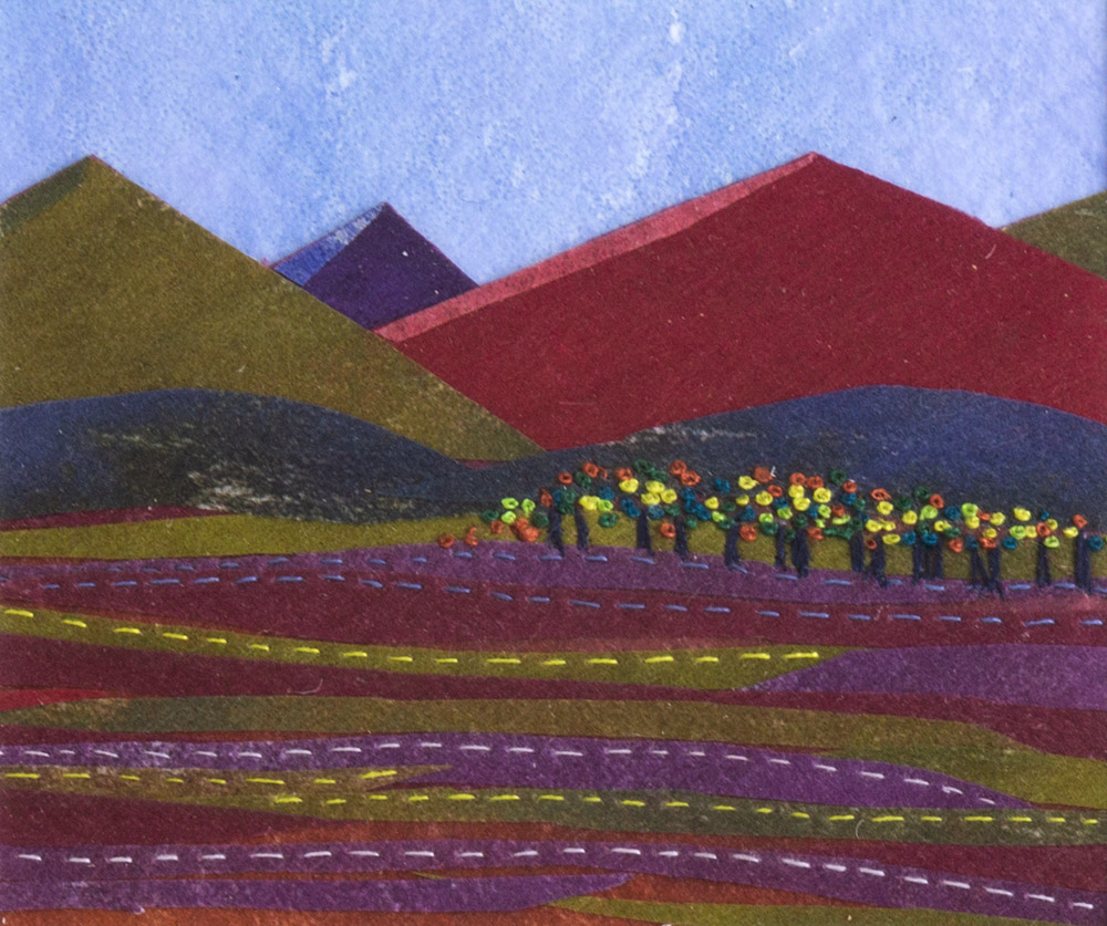 Red Mountains II - 25 x 25 cm £65