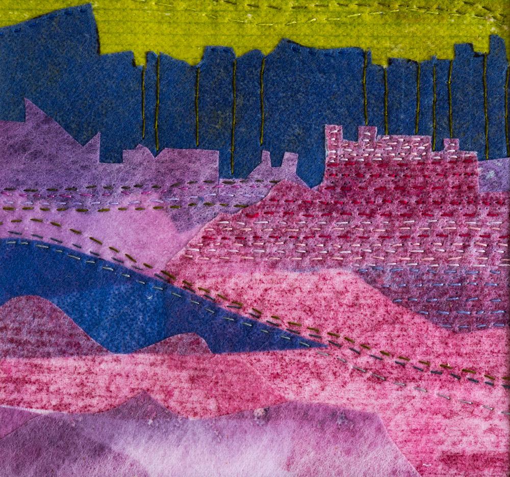 Castle Under Cliff - 25 x 25 cm £65