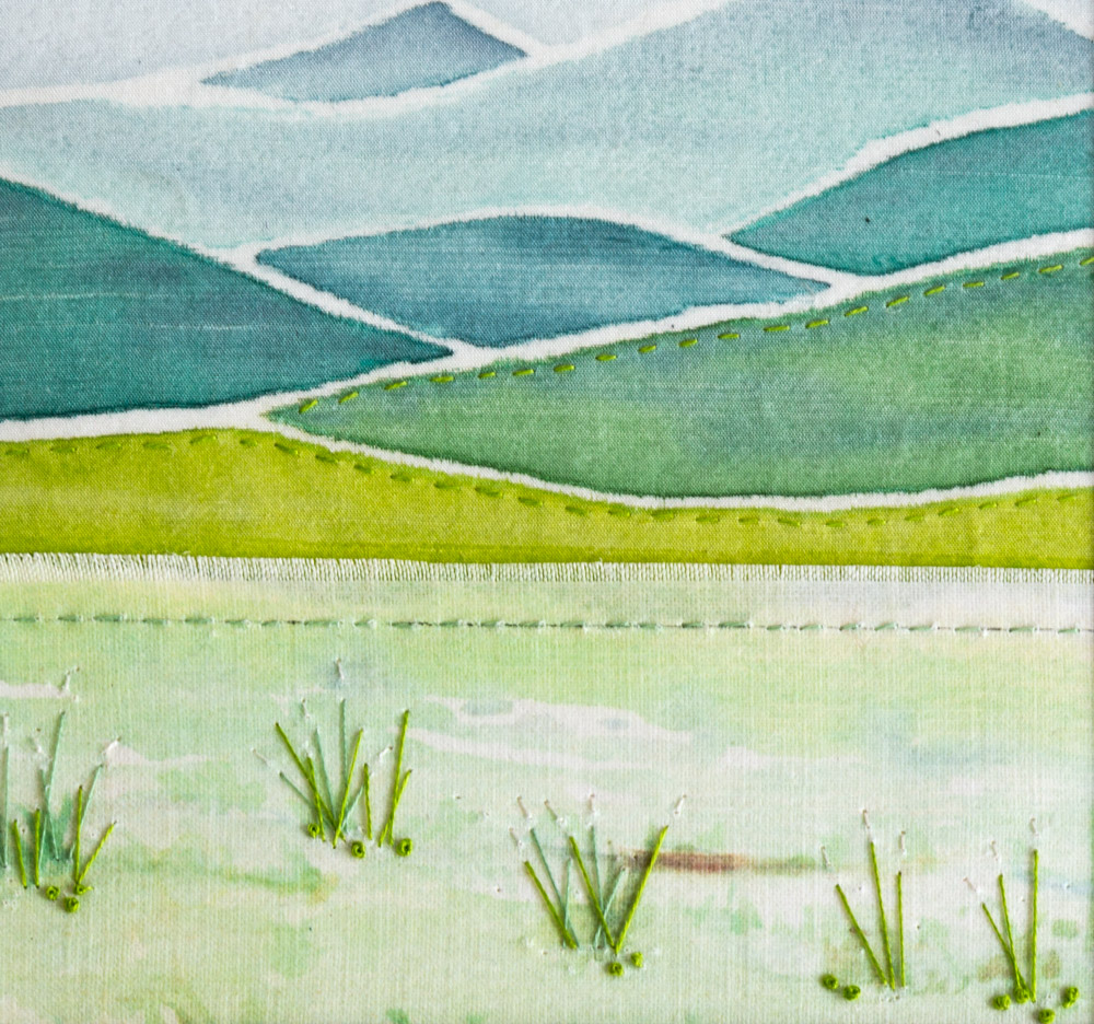 Pale Hills - 25 x 25 cm £65