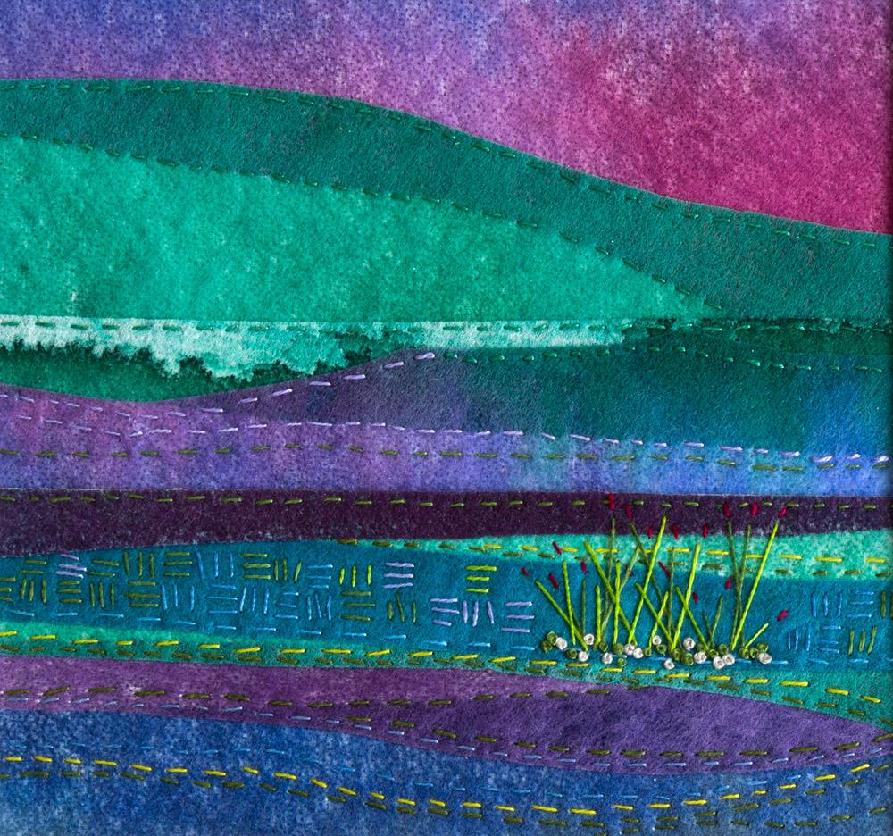 Summer Dusk - 25 x 25 cm £65