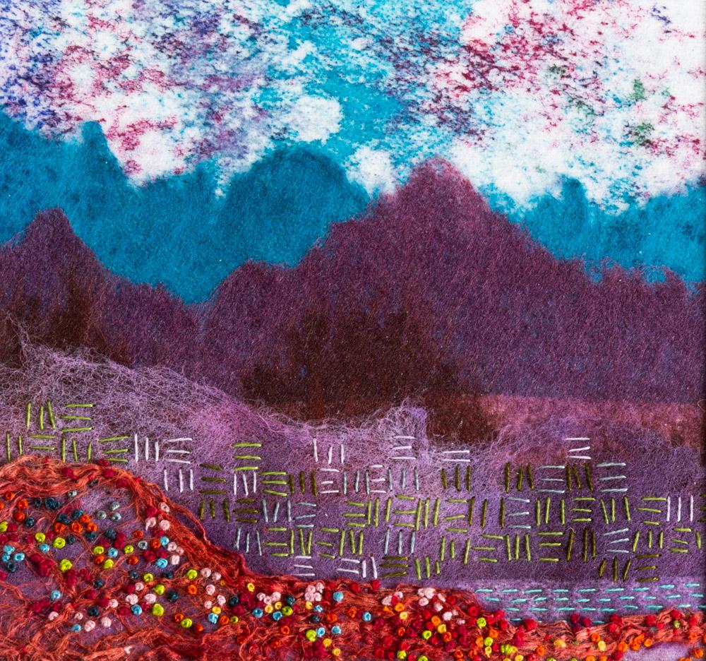 Turquoise Hills - 25 x 25 cm £65