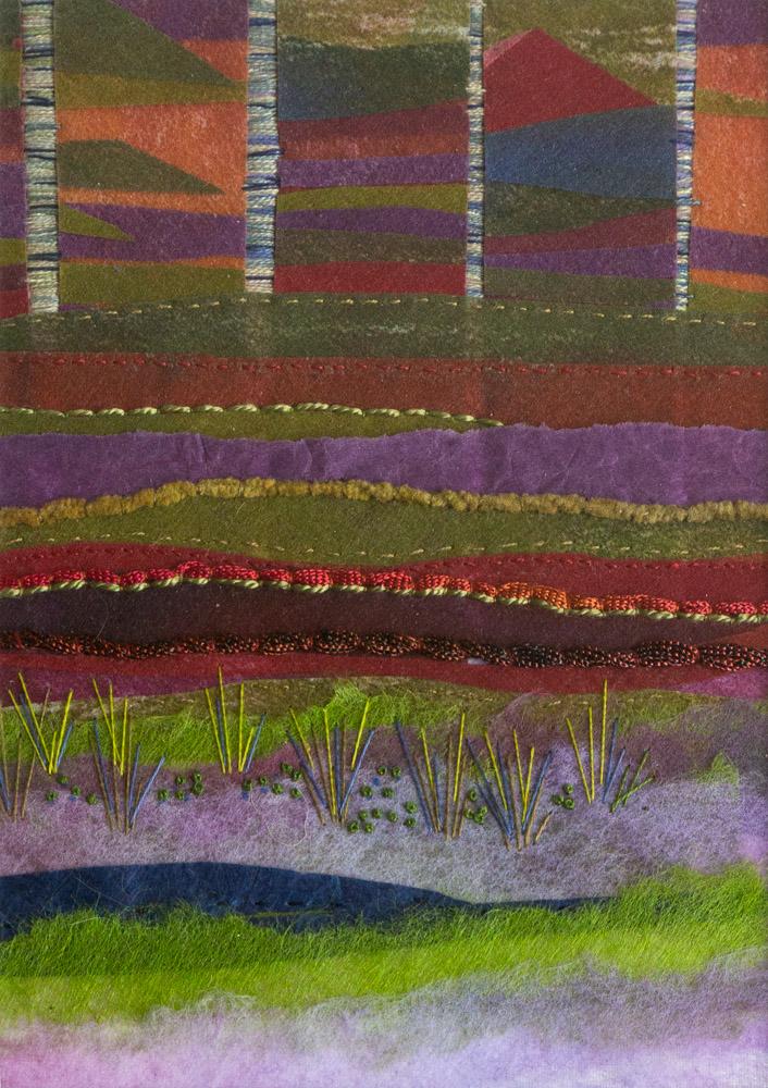 Rainbow Birches - 36 x 31 cm £125