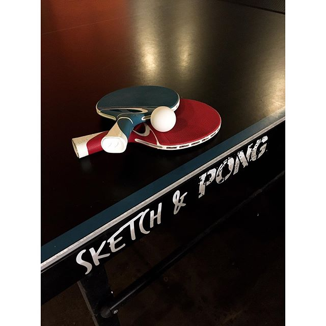 Doodling not your thing? How about a ping-pong battle with your mates? Loser buys the drinks 🏓🍹