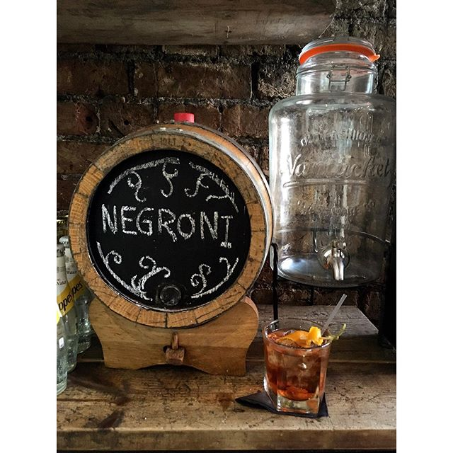 Our cask aged negronis are the perfect, refreshing summer cocktail 🥃