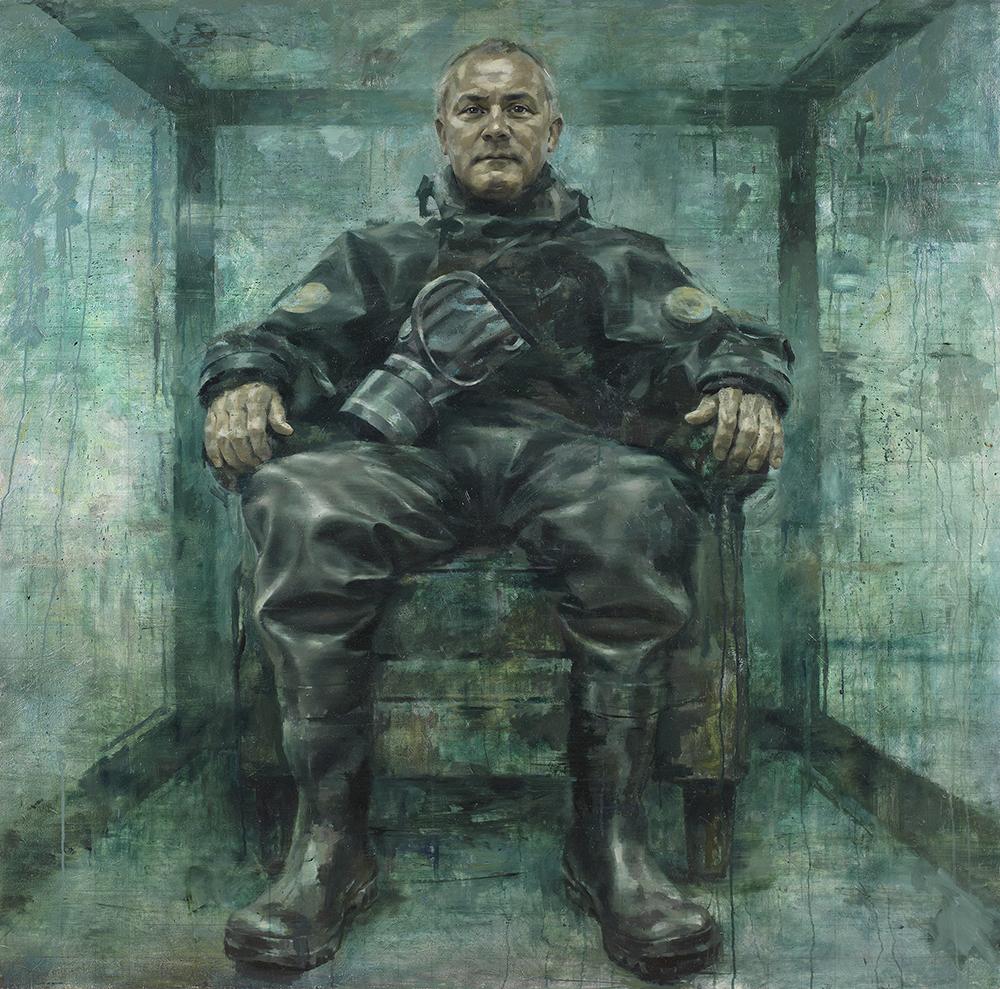 Damien Hirst, oil on canvas, 152cm x 152cm, 2013