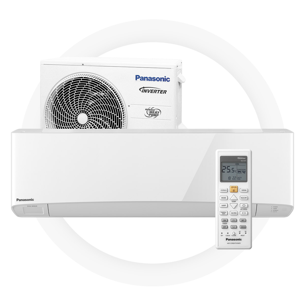 Panasonic nz25-tke - High Seasonal Coefficient of Performance of 4,6 generates remarkable savingsGreat energy efficiency on heating and cooling – A+++8/+15°C temperature maintenance modeVery silent work mode – 19 dBEnvironmentally friendly R32 cold medium5 year full factory warranty by Panasonic