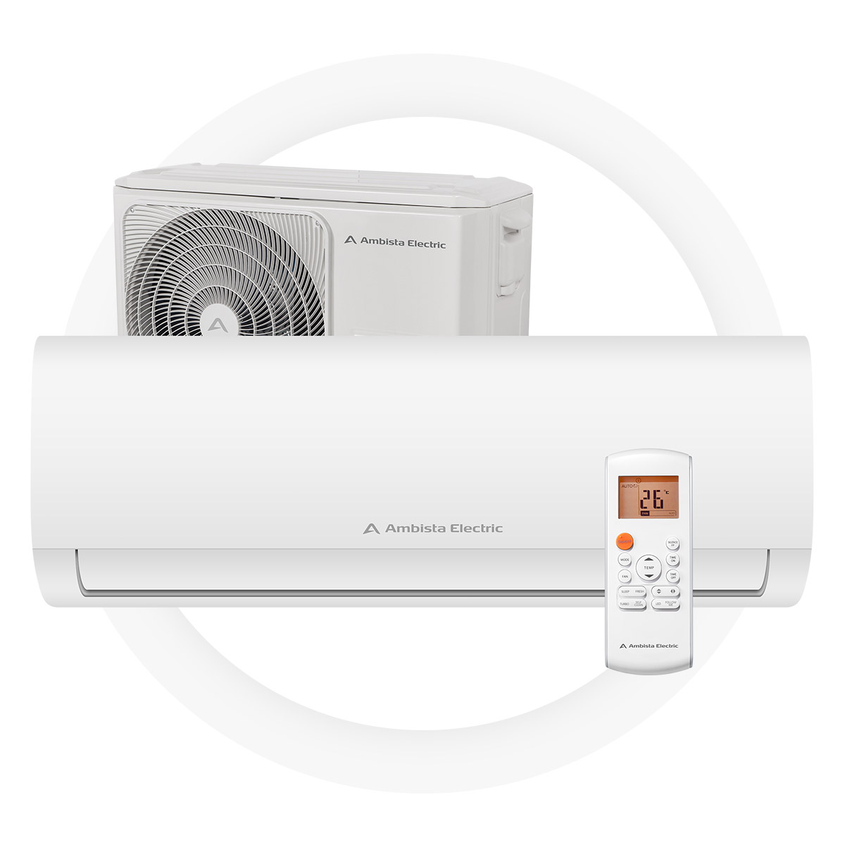 Ambista electric azure25-lnA - Good Seasonal Coefficient of Performance of 4,0A+ energy efficiency on heating and A++ on coolingReaches desired work temperature quicklyHeats up to 60 square meters2 year full factory warranty