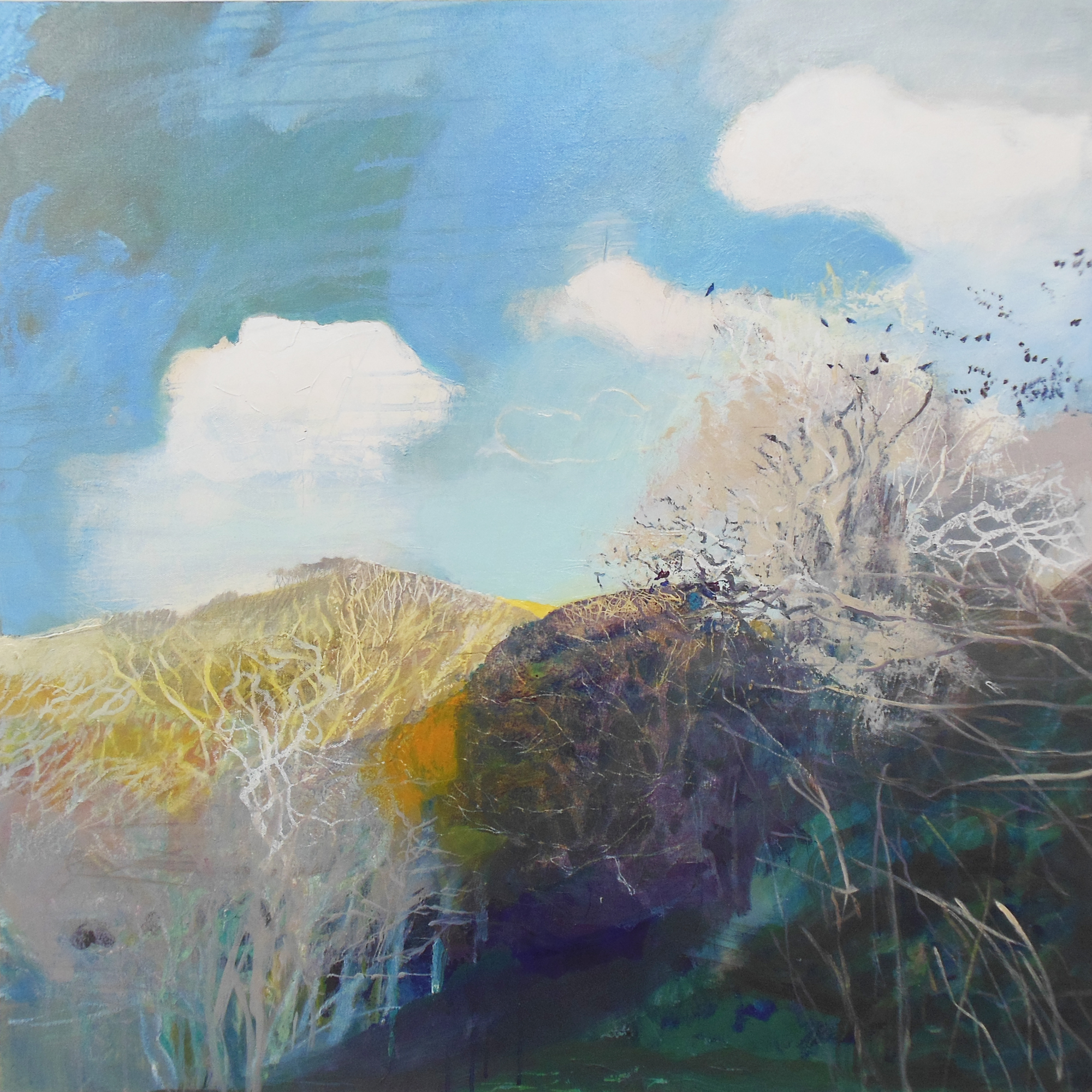 Aveton Gifford to the Avon Estuary, oil on canvas 800mm x 800mm.jpg