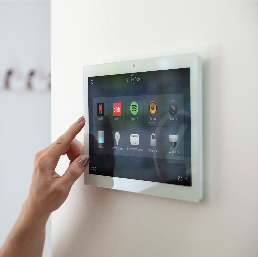 Eliminate the clutter of wall switches. - By controlling everything from your smart phone or in-wall touch panel, you can remove dozens of unnecessary control panels scattered throughout your home.