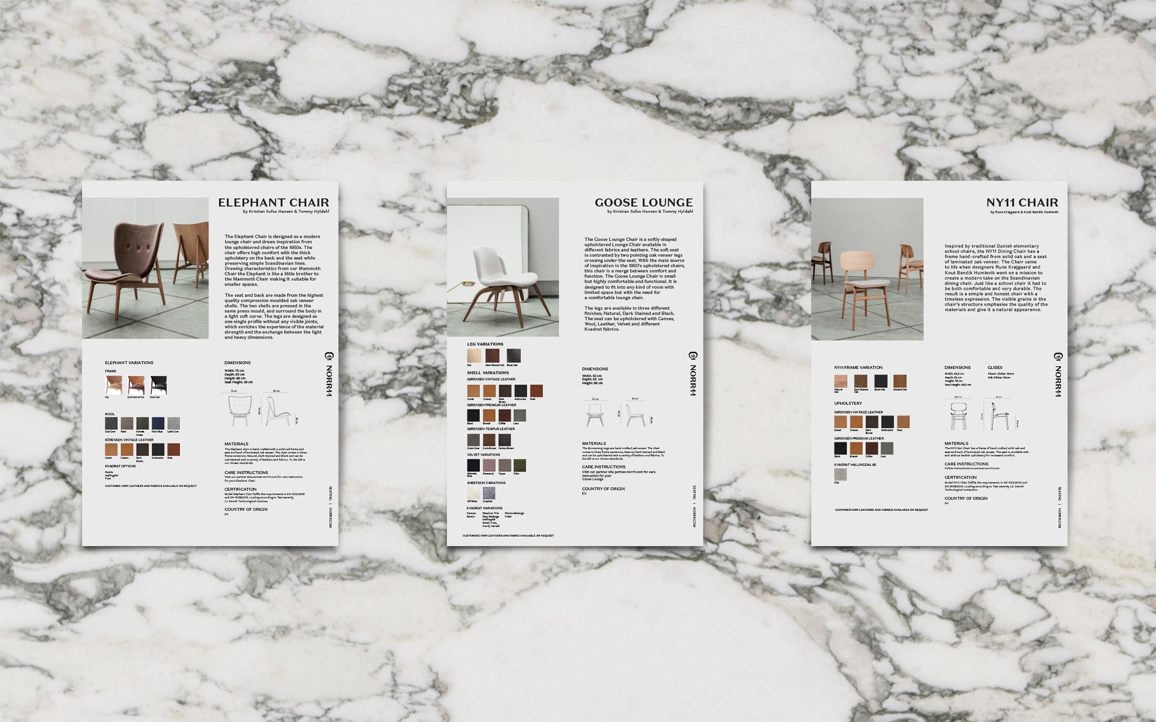 Product sheets designed in collaboration with Júlíana Sól Sigurbjörnsdóttir.
