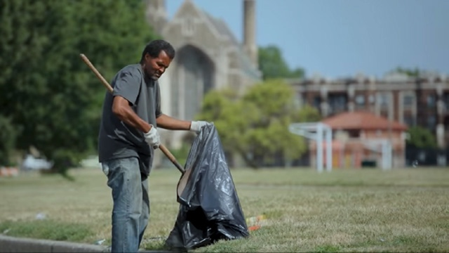 "Aleteia - ""Detroit priest hires homeless to help clean up the city"""