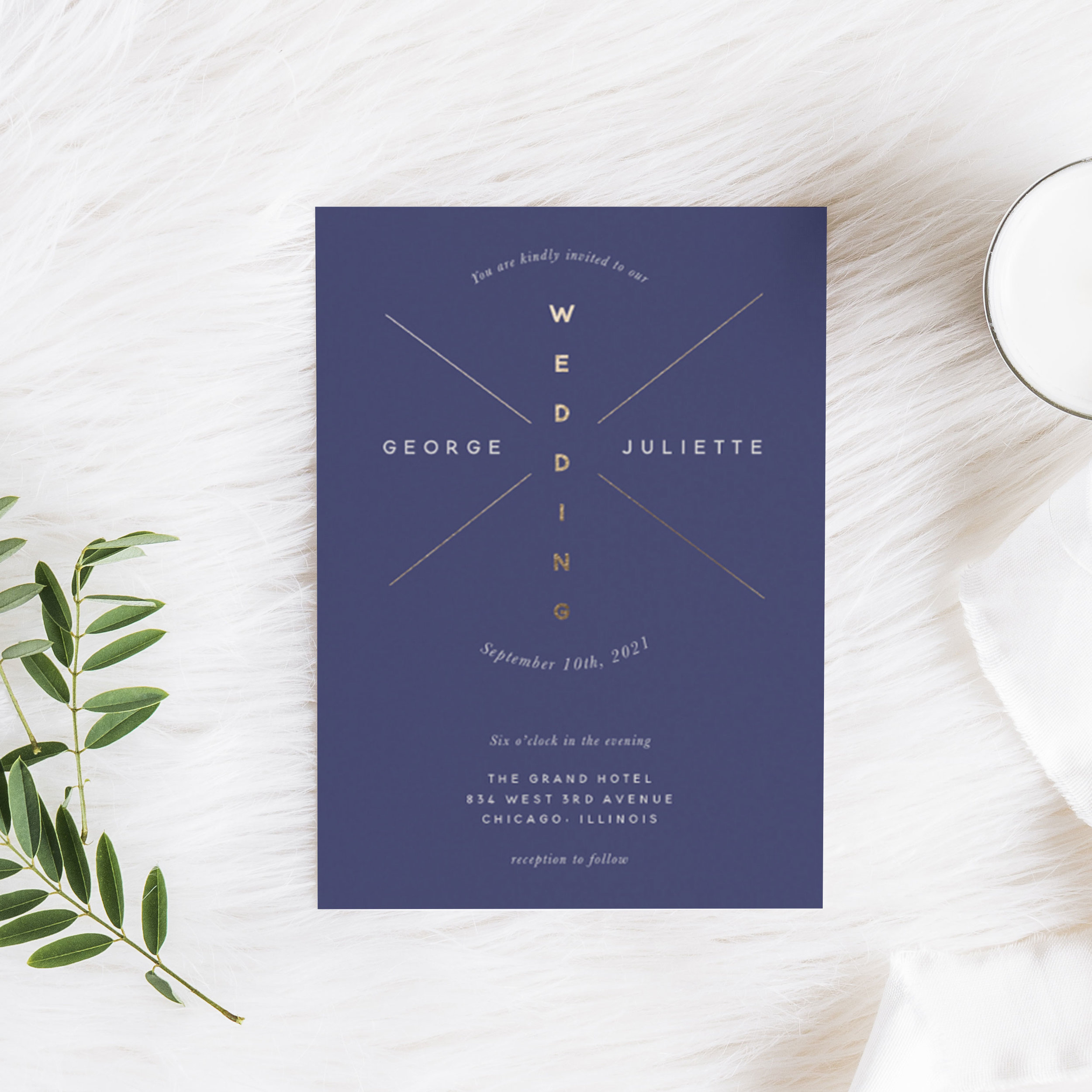 Night Burst Wedding Invitation