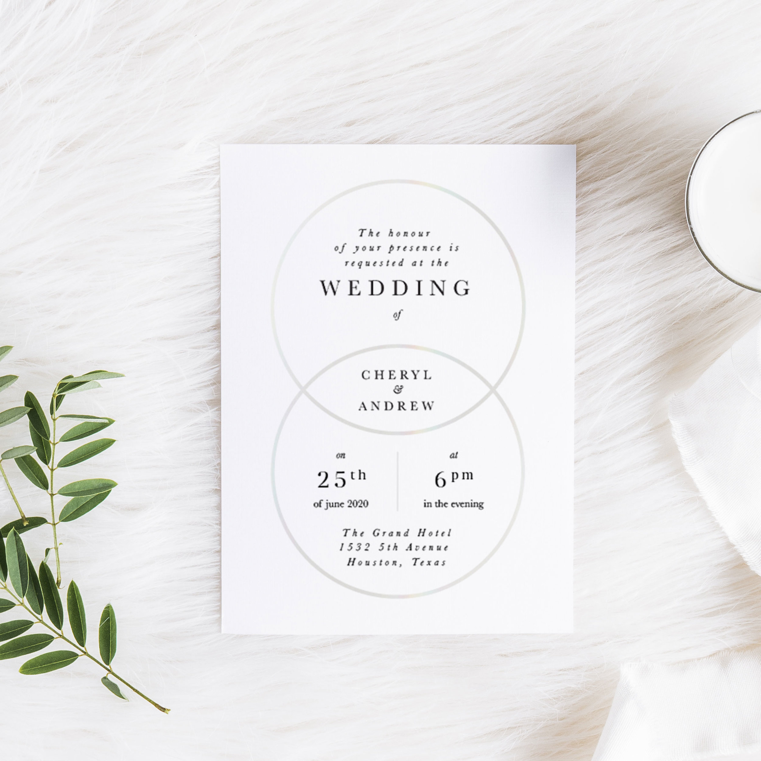 Unity Rings Wedding Invitation