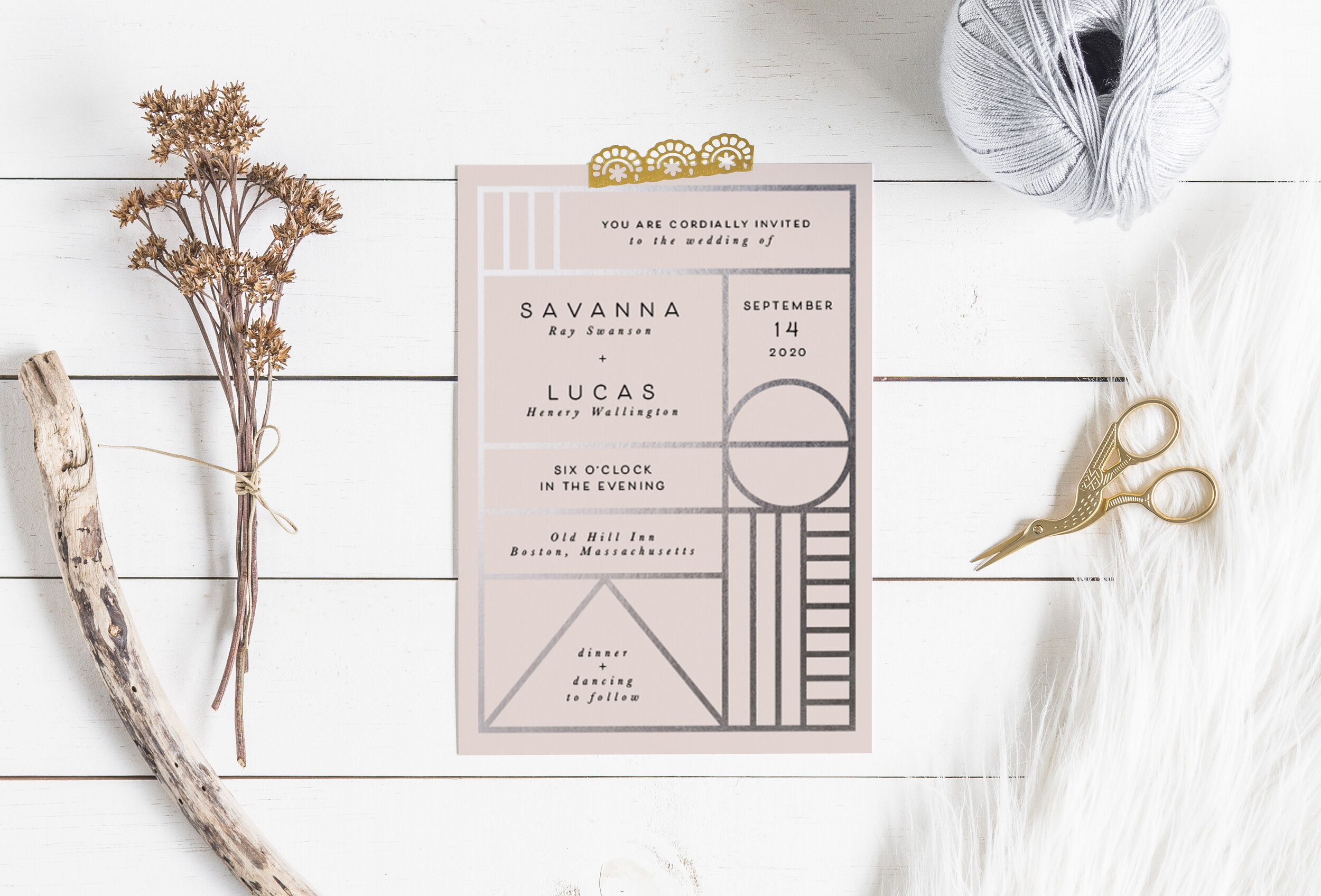 Event Stationery - Browse our collection of modern, beautiful, high quality ready-made event stationery. We can customise our ready-made designs or create a bespoke custom design.
