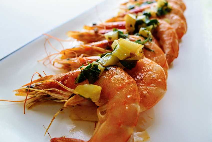 Grilled Prawns with Garlic, Parsley and Lemon
