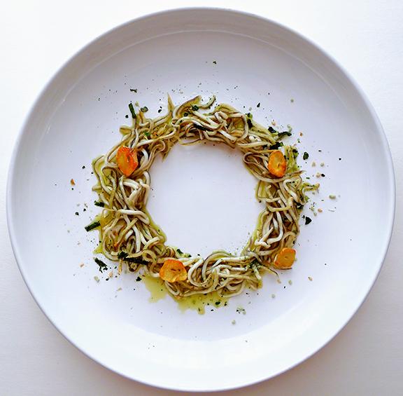 Sautéed Gulas with Garlic, Seaweed, sea Salt, EVOO & dry wasabi