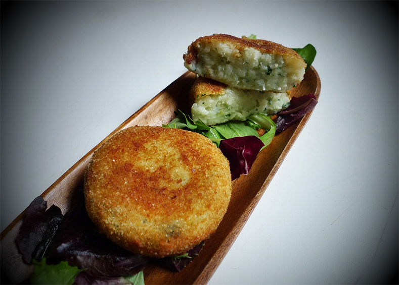Salt Cod Cakes with Potato, Garlic & Parsley
