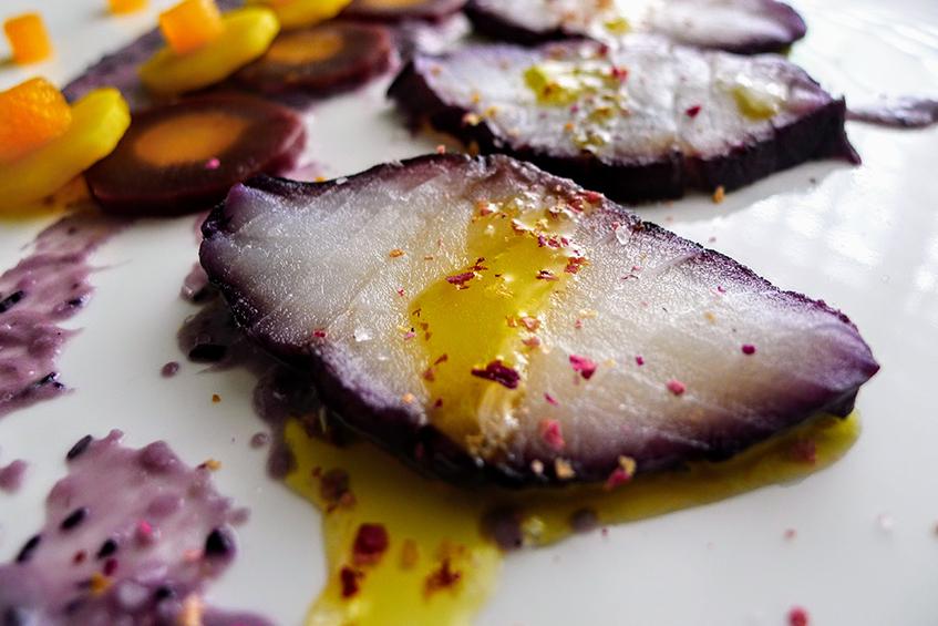 Purple Cod carpaccio
