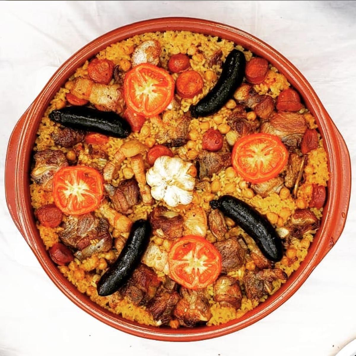 Valencian Arroz al horno (bake rice)